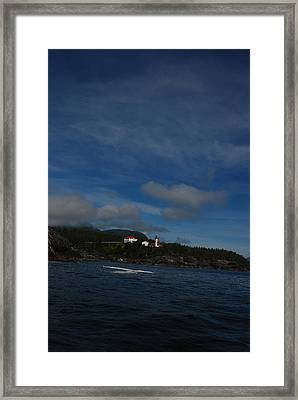 Friendly Cove From A Distance Framed Print