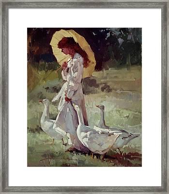 Friendly Flock Framed Print