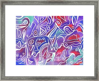 Friendly Maze Framed Print by Carolyn Weir