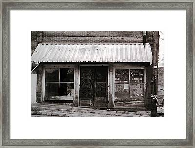 Friendly Recreation- Utica Mississippi Framed Print