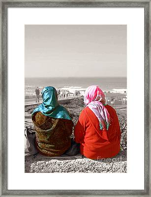 Friends, Morocco Framed Print