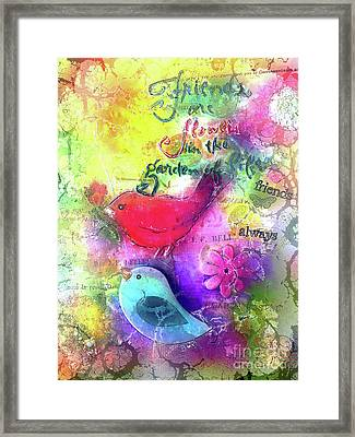 Friends Always Framed Print by Claire Bull