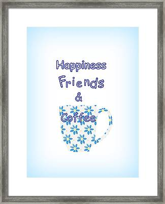 Friends And Coffee Framed Print by Kathleen Sartoris