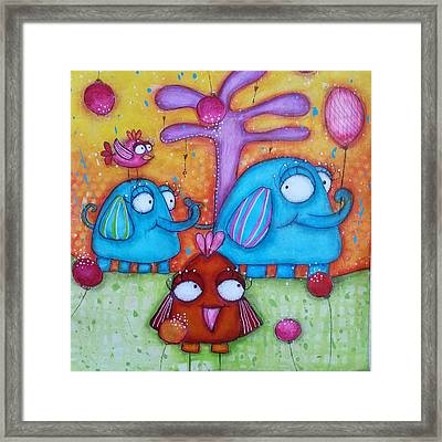 Friends And Family Framed Print