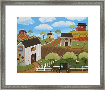 Friends And Neighbors Framed Print by Mary Charles