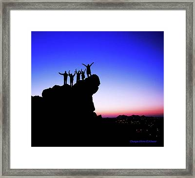 Friends Framed Print by Chaza Abou El Khair