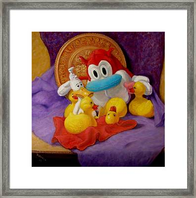 Framed Print featuring the painting Friends by Donelli  DiMaria