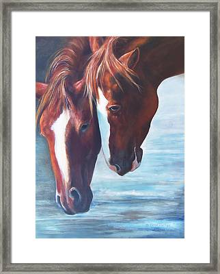 Framed Print featuring the painting Friends For Life by Karen Kennedy Chatham