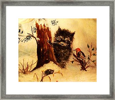 Framed Print featuring the painting Friends Forever by Hazel Holland