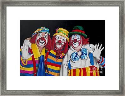 Friends Forever In Laughter  Framed Print