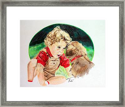 Friend's Forever Framed Print by Tobi Czumak