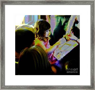 Friends Gather Round Framed Print by JoAnn SkyWatcher