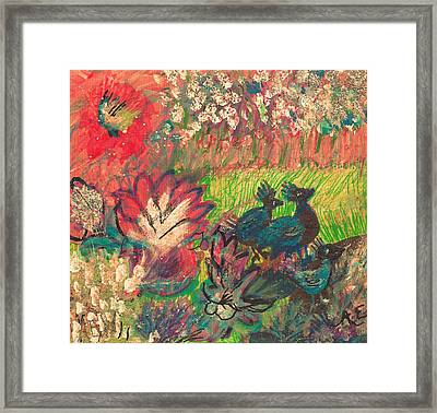 Friends Going For A Walk Framed Print by Anne-elizabeth Whiteway