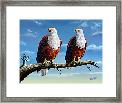 Friends Hanging Out Framed Print