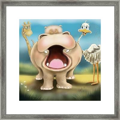 Friends Framed Print by Hank Nunes