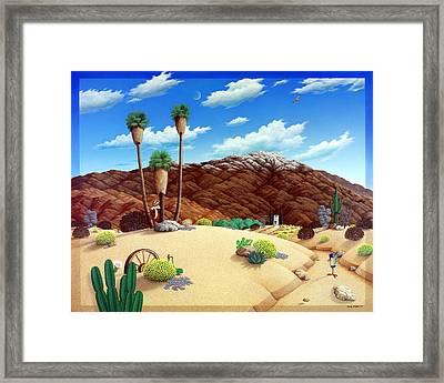 Friends In The Desert Framed Print by Snake Jagger