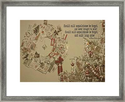 Friends Near And Far Quote Framed Print by JAMART Photography