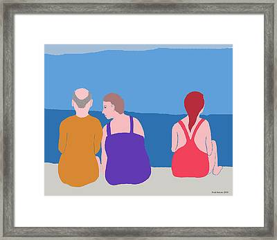 Friends On Beach Framed Print