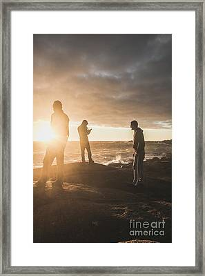 Framed Print featuring the photograph Friends On Sunset by Jorgo Photography - Wall Art Gallery