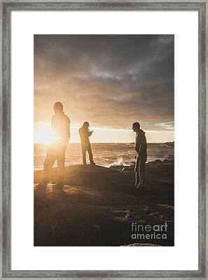 Friends On Sunset Framed Print
