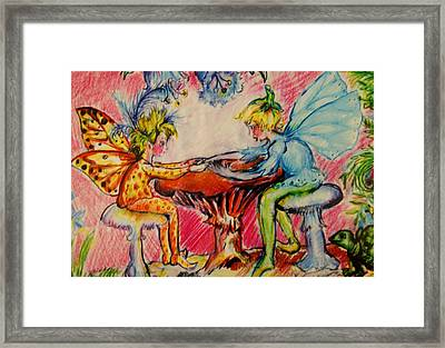 Fairy Friends Framed Print by Susan Brown    Slizys art signature name