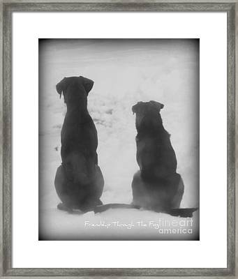 Framed Print featuring the photograph Friends Through The Fog by Lila Fisher-Wenzel