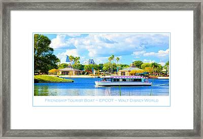 Friendship Boat On The Lagoon Epcot Walt Disney World Framed Print