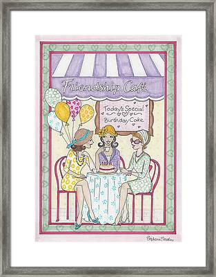 Friendship Cafe Framed Print