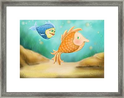 Friendship Fish Framed Print by Hank Nunes