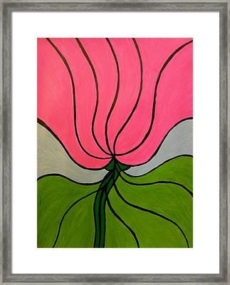 Friendship Flower Framed Print