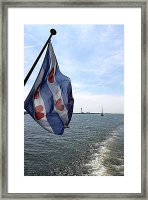 Friesche Vlag Framed Print by Johan Van der knokke