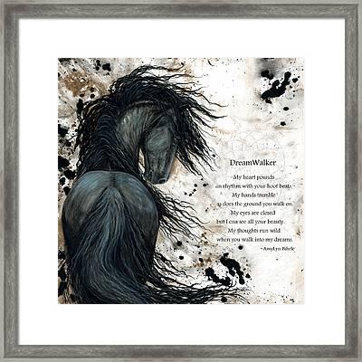 Friesian Dreamwalker Horse Framed Print