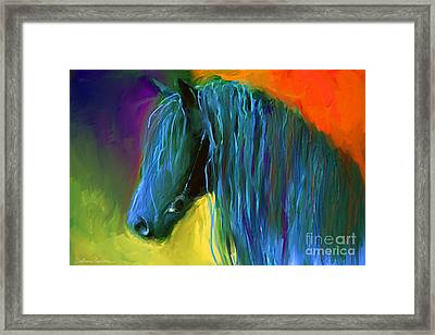 Friesian Horse Painting 2 Framed Print
