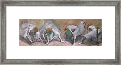 Frieze Of Dancers Framed Print by Edgar Degas