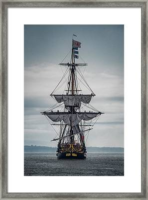 Frigate Hermione 03 Framed Print by Fred LeBlanc