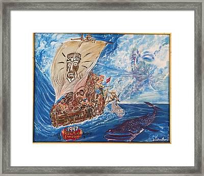 Friggin In The Riggin - Kon Tiki Expedition Framed Print
