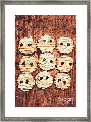 Frightened Mummy Baked Biscuits Framed Print