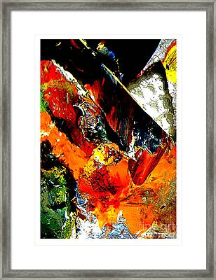 Frightening Comic Book Pages Framed Print