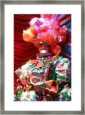 Frightening Dame Framed Print by Jez C Self