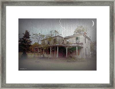 Frightening Lightning Framed Print by Brian Wallace
