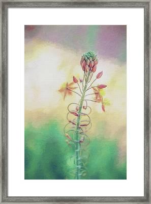 Frilly Flower Impression Framed Print