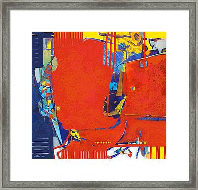 Fringe And Red Tape Framed Print by Dale  Witherow