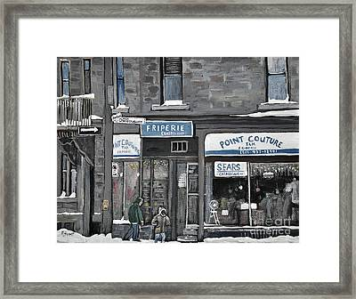 Friperie Point Couture Pte St. Charles Framed Print by Reb Frost