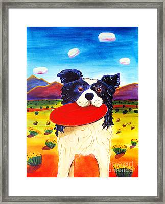 Frisbee Dog Framed Print by Harriet Peck Taylor