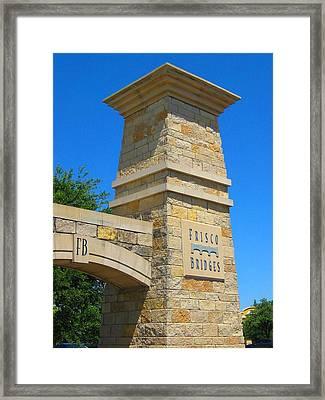 Frisco Bridges Framed Print by Diana Moya