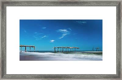 Frisco Fishing Pier In North Carolina Panorama Framed Print
