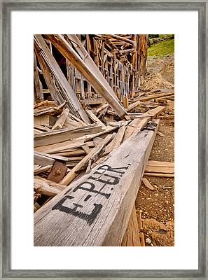 Frisco Mill Decay Framed Print