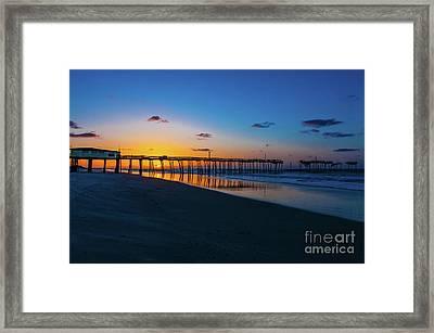 Frisco Pier Sunrise Outer Banks North Carolina Framed Print