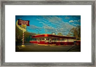 Framed Print featuring the photograph Frisko Freeze by Matthew Ahola