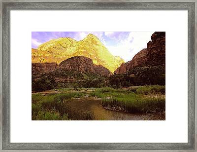 Frist Light Zion Framed Print by Alan Lenk